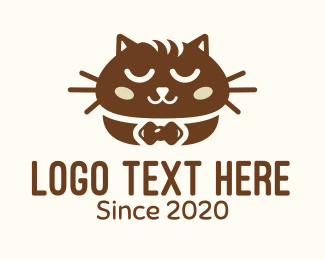 Bakery - Brown Cat Bread logo design