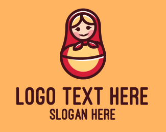Russian - Russian Matryoshka Doll logo design