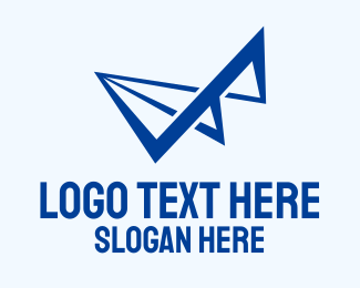 Paper - Abstract Paper Airplane logo design