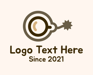 Floating - Brown Coffee Bomb logo design
