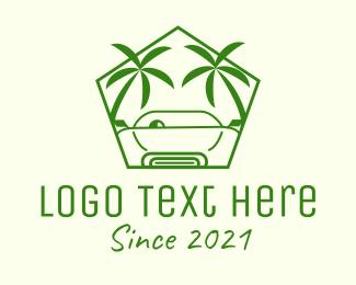 Boracay - Palm Beach Car logo design