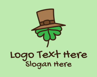 Saint Patrick - Shamrock Top Hat  logo design