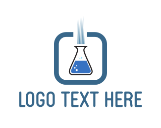 Chemical - Blue Test Tube logo design