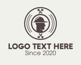 Minery - Industrial Worker Man  logo design