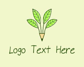 Pencil - Pencil Plant logo design