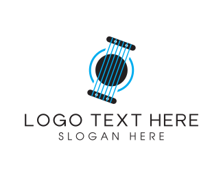 Blue Guitar - Blue Strings logo design