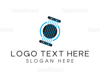Instrument - Blue Strings logo design