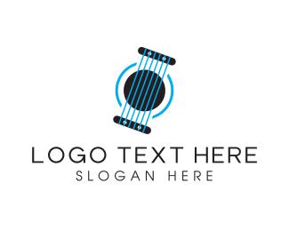String - Blue Strings logo design