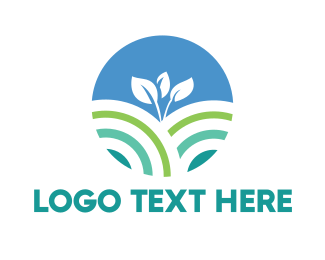 Planting - Round Young Plant logo design