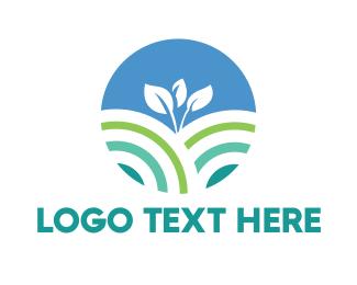 Plant - Round Young Plant logo design