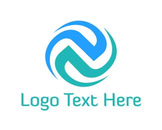 Tech Blue Spiral Logo