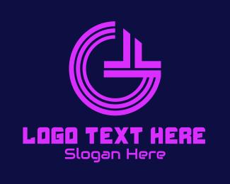 Fortnite - Futuristic Circuit Letter G logo design