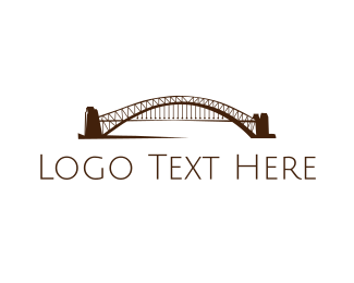 Harbour Bridge - Arch Bridge  logo design
