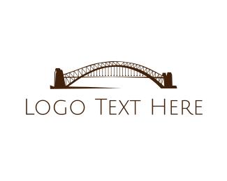 Truss - Arch Bridge logo design
