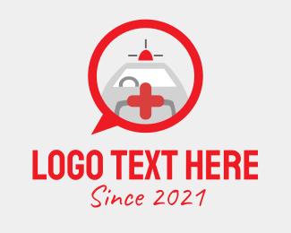 Social Media - Emergency Ambulance Chat  logo design