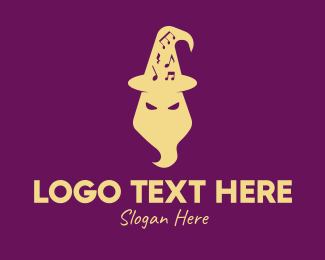 Witchcraft - Magical Wizard Hat logo design