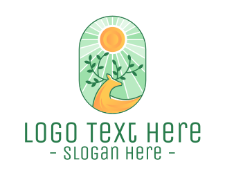 Twigs - Eco-Friendly Deer logo design