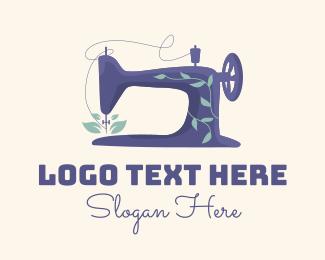 Needlework - Organic Sewing Machine logo design