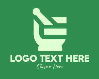Mortar And Pestle - Mortar & Pestle Letter E logo design