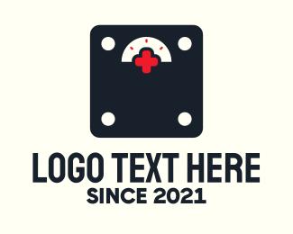 Weight - Medical Weighing Scale logo design