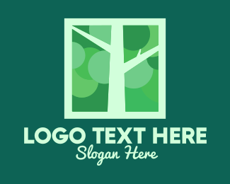 Twigs - Green Tree Branches logo design