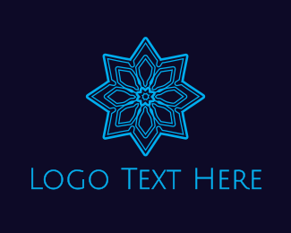 Flake - Blue Snowflake logo design