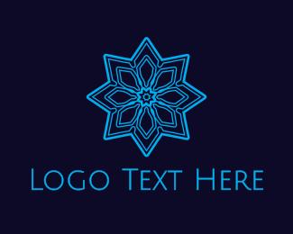 Snowflake - Blue Snowflake logo design