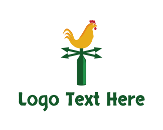 Chicken - Chicken Weather logo design