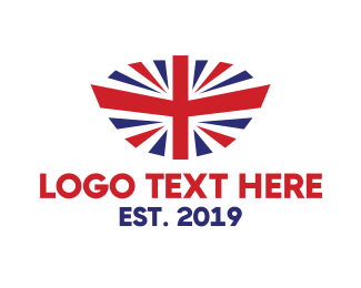 Sovereign - Modern United Kingdom Flag logo design
