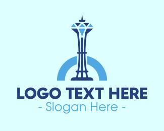 Monument - Diamond Tower logo design