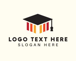 Achievement - Graduation Hat logo design