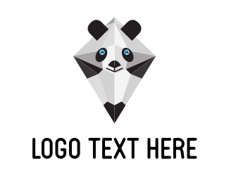 Furnitureinterior Geometric Panda Pencil logo design