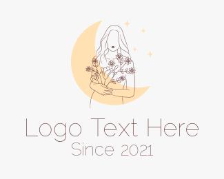 Underwear - Moon Flower Girl logo design