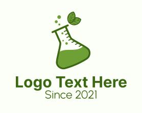 Medical - Green Herbal Flask logo design