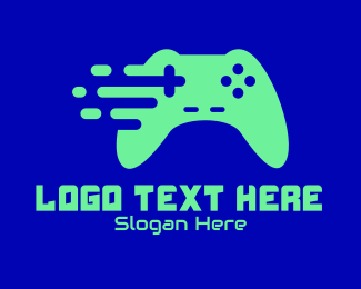 Game Buttons - Online Gaming Console  logo design