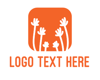Volunteer - Hands & Flowers App logo design