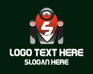 Scifi - Robot Letter S logo design