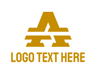 Austin - Gold Split A logo design