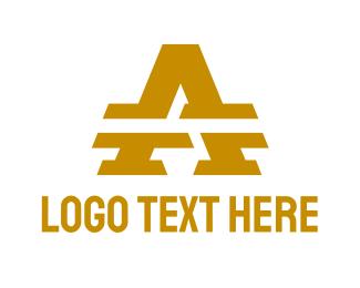 Accounting - Gold Split A logo design