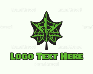Marijuana Leaf - Weed Web logo design