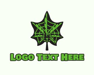 Weed - Weed Leaf Web logo design