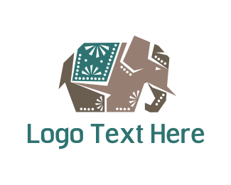 Deco - Indian Elephant logo design