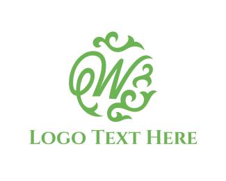 Branch - Green Letter W logo design