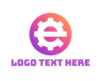 Instagram - Engineer Gear Letter E logo design
