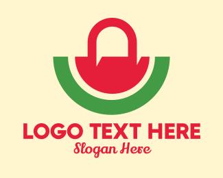 Trend - Cute Watermelon Bag logo design
