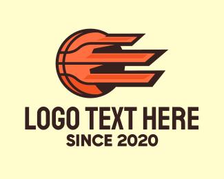 Basketball Team - Orange Fast Basketball  logo design