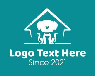 Heart - Dog Animal Shelter  logo design