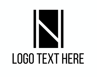 Showroom - Black Letter N logo design