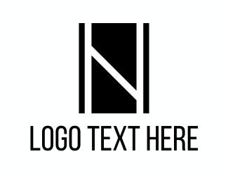 Letter N - Black Letter N logo design