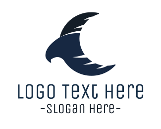 Postal Service - Blue Eagle Moon logo design